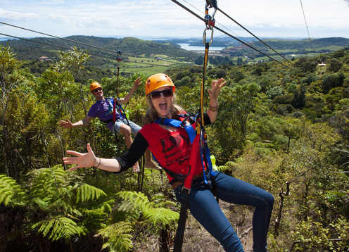 EcoZip Adventures offers state-of-the-art flying fox ziplines and an eco-immersive forest walk on breathtaking Waiheke Island, for nature lovers of all ages. You'll enjoy the full Waiheke experience with a complimentary pick up from the island ferry and a range of drop-off locations afterward.