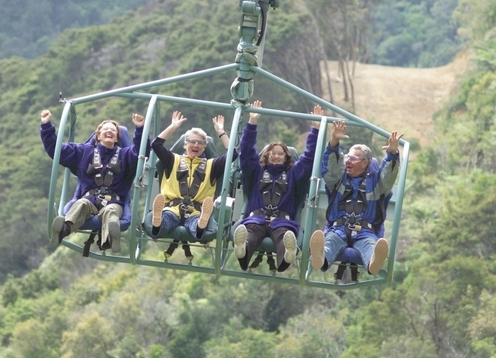 The Cable Bay Adventure Park is Nelson's adventure playground. Located just 15 minutes drive from the centre of Nelson it is home to a wide range of adventure activities with something to cater for everyone, set in magnificent native forest with views over the stunning Delaware Bay